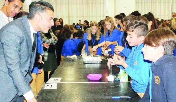 """Enthusiasm  At The Necat British College """"Science Fair"""""""