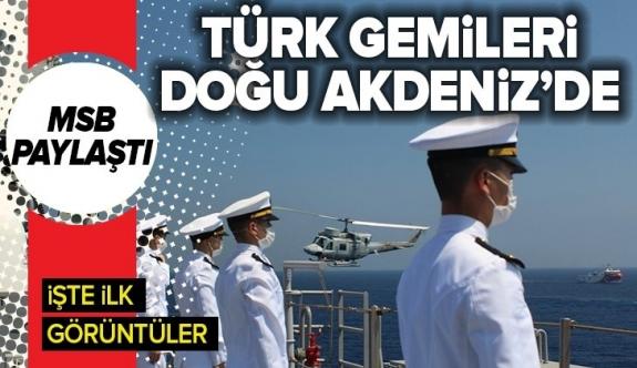 Doğu Akdeniz'de deniz eğitimi! Milli Savunma Bakanlığı böyle duyurdu