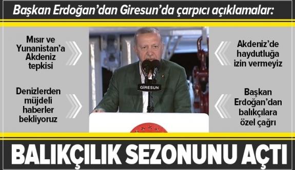 Erdoğan'dan Giresun'da önemli açıklamalar