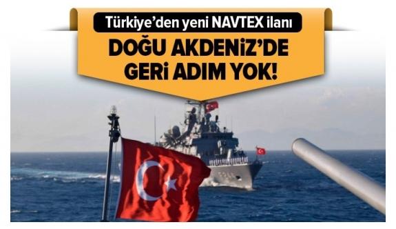 Türkiye'den Doğu Akdeniz'de yeni NAVTEX ilanı.