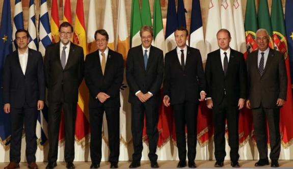 """Akdeniz'e kıyısı olan AB ülkeleri zirvesi sonuç bildirgesi: """"Güney Kıbrıs'a tam destek"""""""