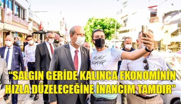 Başbakan Tatar Girne Çarşısını Ziyaret Etti