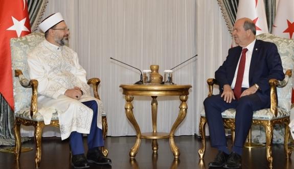 Cumhurbaşkanı Tatar, Diyanet İşleri Başkanı Prof. DR. Ali Erbaş'ı Kabul Etti