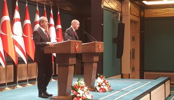 Erdoğan: Türk tarafı Kıbrıs'ta adil, kalıcı ve sürdürülebilir bir çözümden yanadır