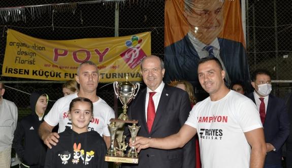 Cumhurbaşkanı Tatar, İrsen Küçük Turnuvası ödül törenine katıldı