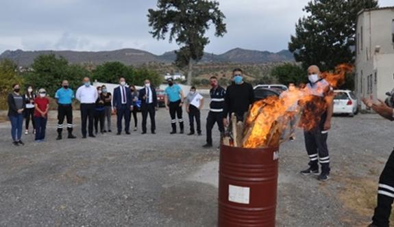 Sivil Savunma Değirmenlik Belediyesi'nde tatbikat gerçekleştirdi