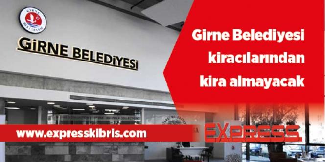 Girne Belediyesi'nden kiracılara destek