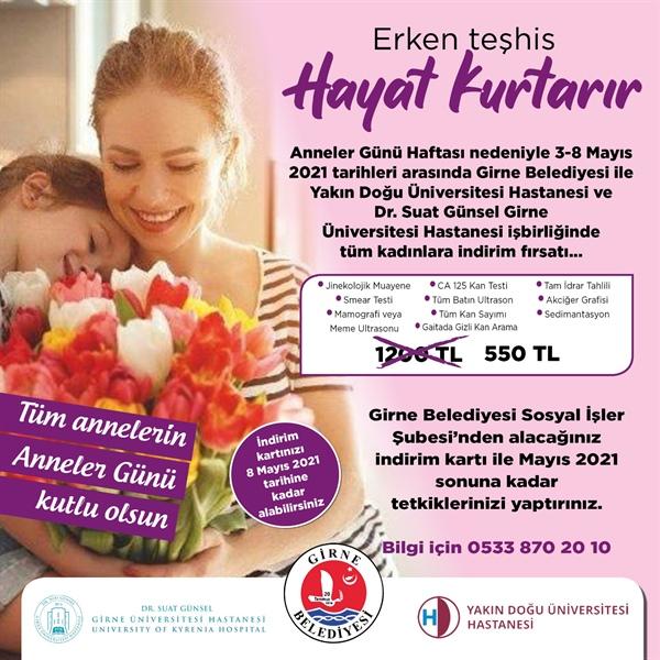 Girne Belediyesi Sağlık Taraması Kampanyası başlattı