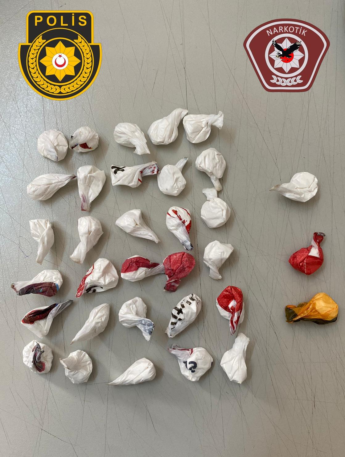 Girne'de 33 paket kokain yakalandı!