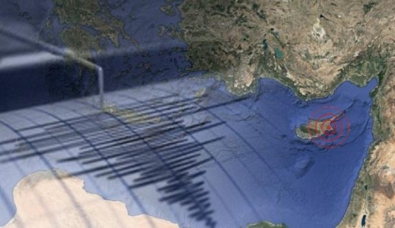 Larnaka açıklarında deprem
