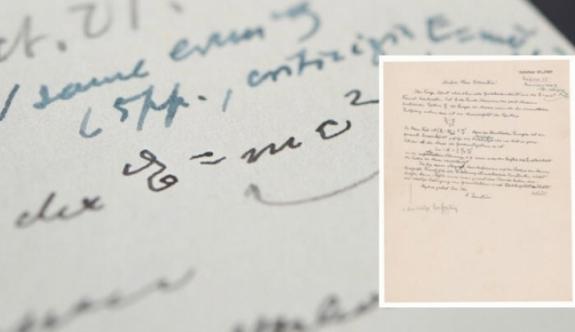 Einstein'in mektubuna servet