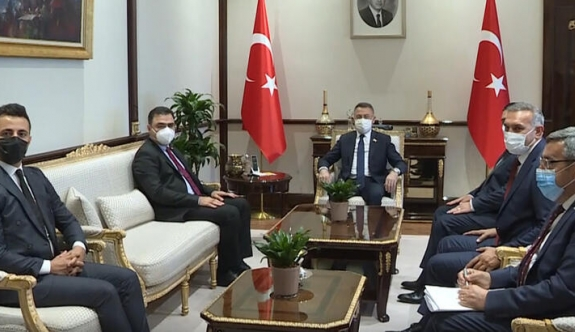 Fuat Oktay Kuzey Kıbrıs Türk Kızılay heyetini kabul etti