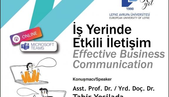 LAÜ'de Çevrimiçi Seminer: İşyerinde Etkili İletişim