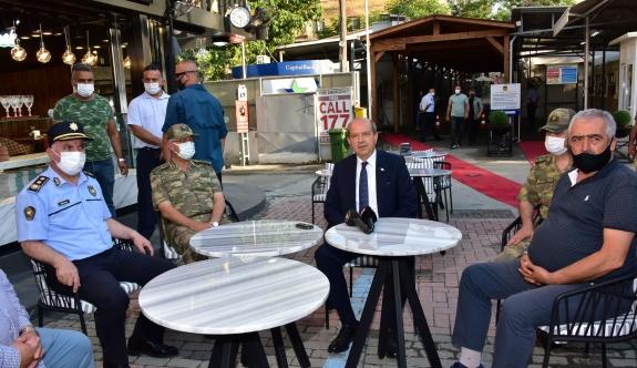 Cumhurbaşkanı Tatar, incelemelerde bulundu