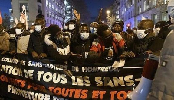Fransa'da mülteci kabulü için protesto