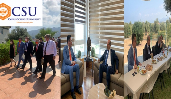 Başbakan Tatar'dan Kıbrıs İlim Üniversitesi'ne Ziyaret