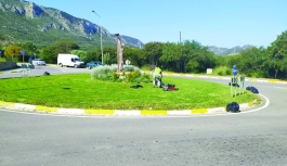 Kyrenia Municipality Park Gardens Department works continuously