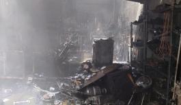 Lefkoşa'daki yangında 1 yaralı