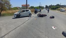 Lapta'da kaza: 1 ağır yaralı!
