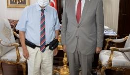 Cumhurbaşkanı Tatar, emekli general Evcil'i kabul etti